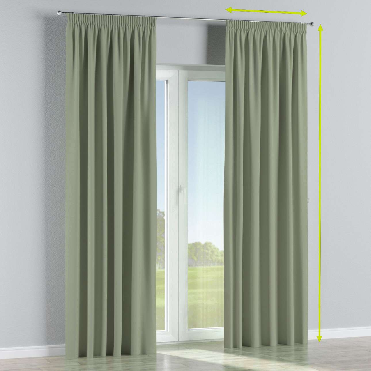 Pencil pleat curtains in collection Blackout, fabric: 269-14