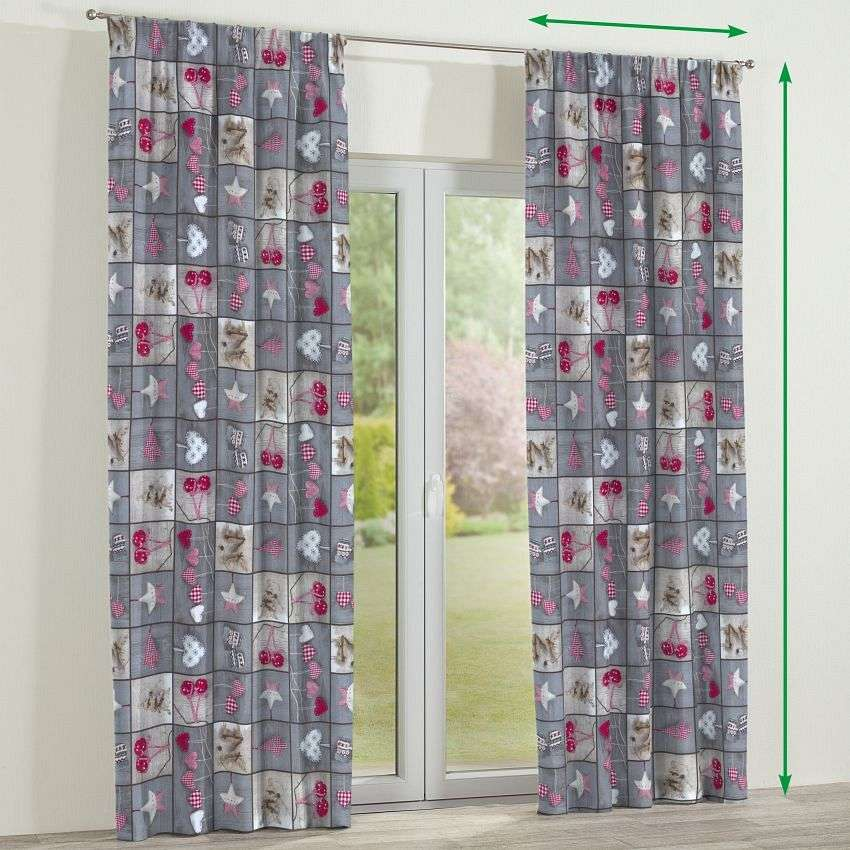 Pencil pleat curtains in collection Christmas, fabric: 629-20