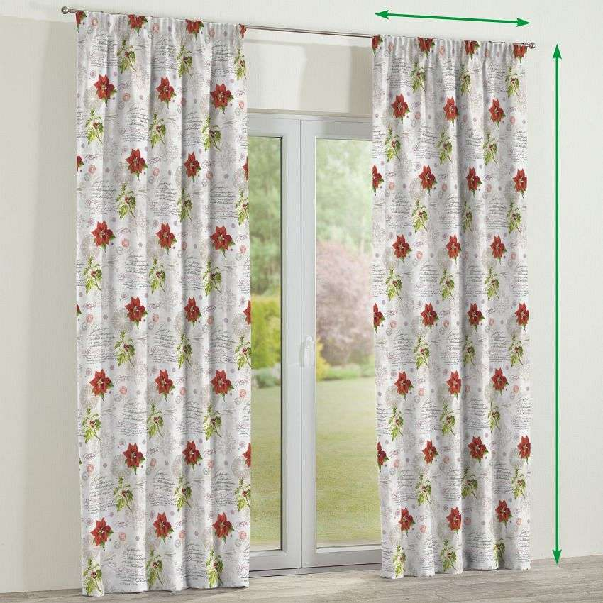 Pencil pleat curtains in collection Christmas , fabric: 629-24