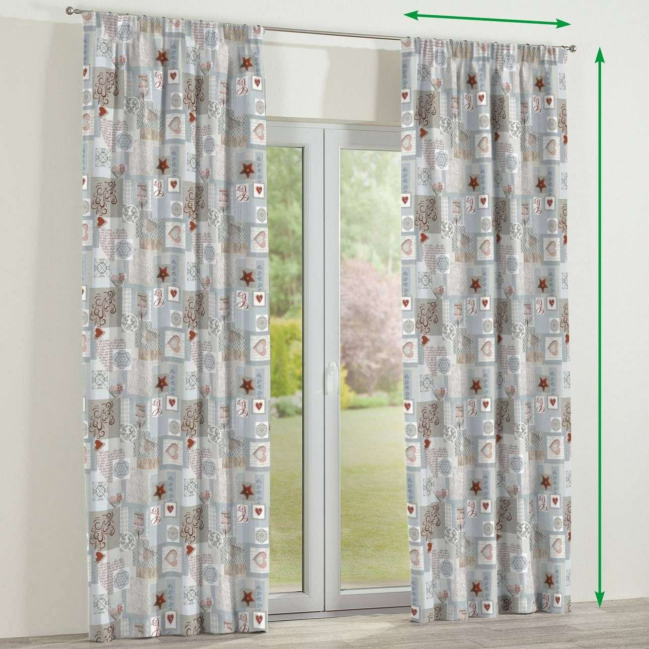 Pencil pleat curtains in collection Christmas , fabric: 629-27