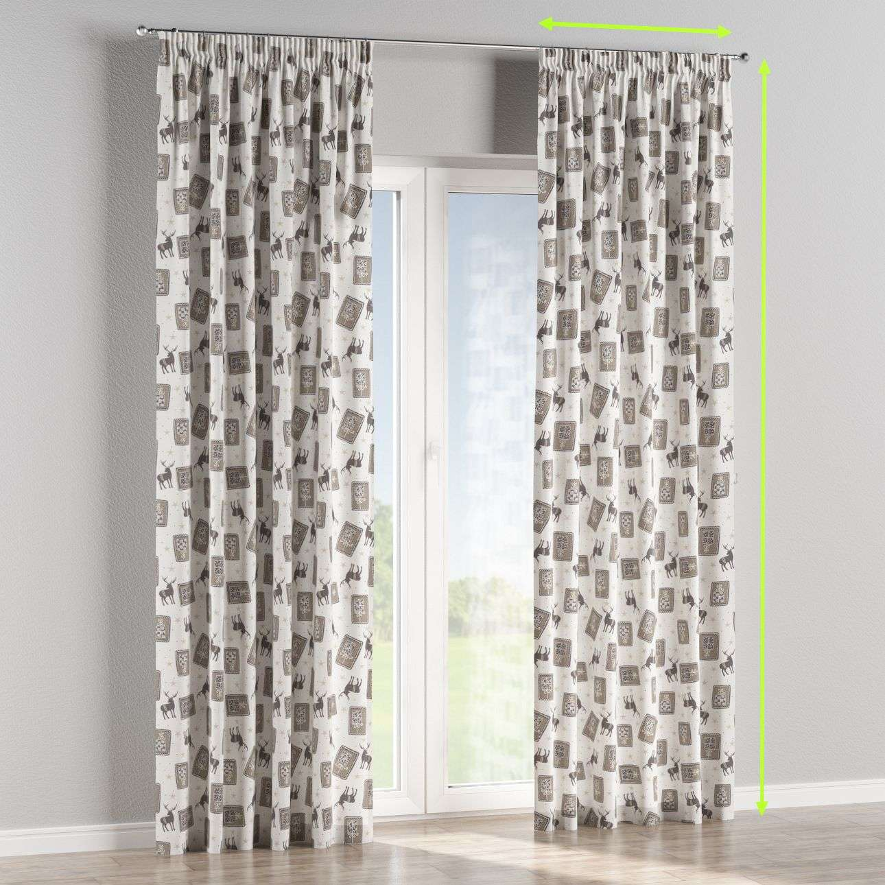 Pencil pleat curtains in collection Nordic, fabric: 630-10