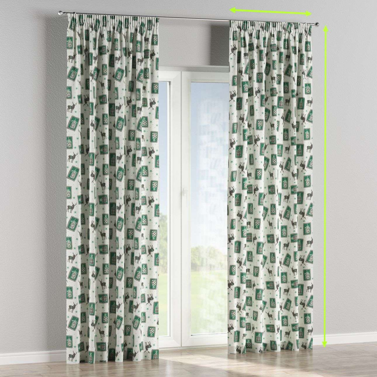 Pencil pleat curtains in collection Nordic, fabric: 630-13