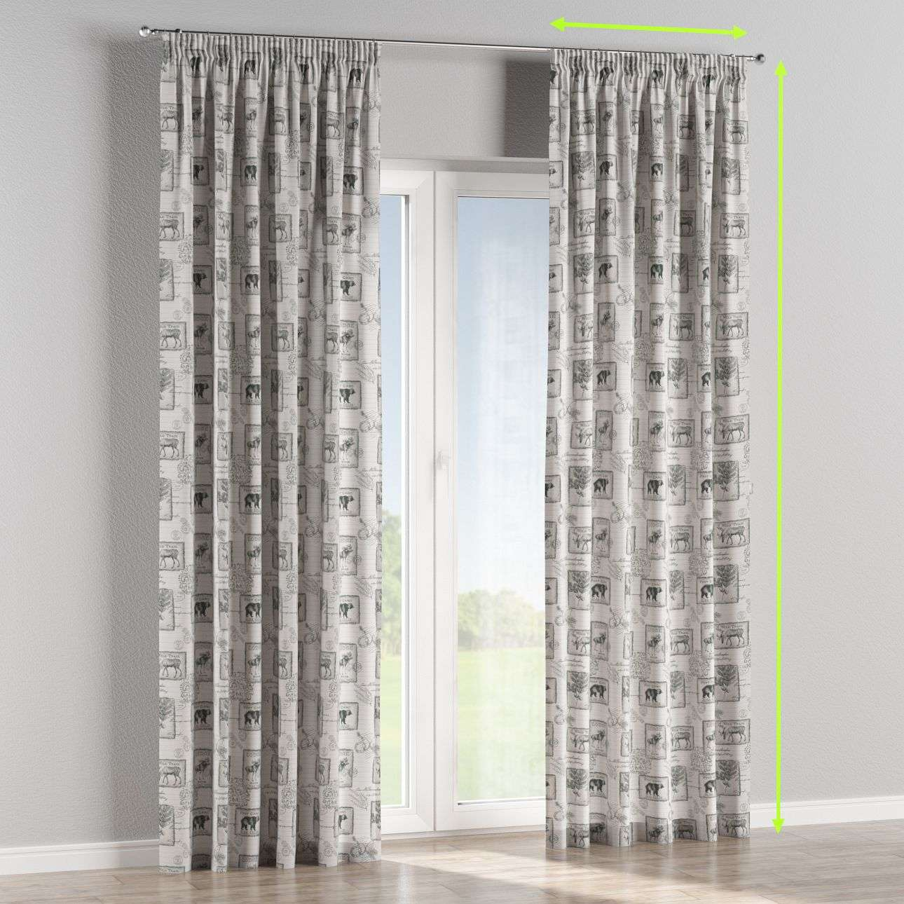 Pencil pleat curtains in collection Nordic, fabric: 630-18