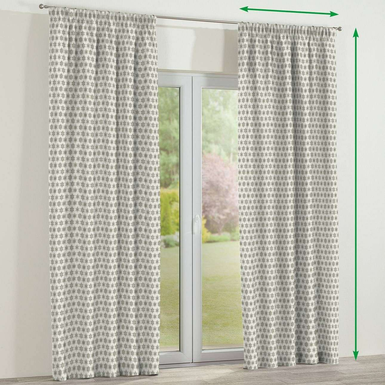 Pencil pleat curtains in collection Christmas, fabric: 630-26