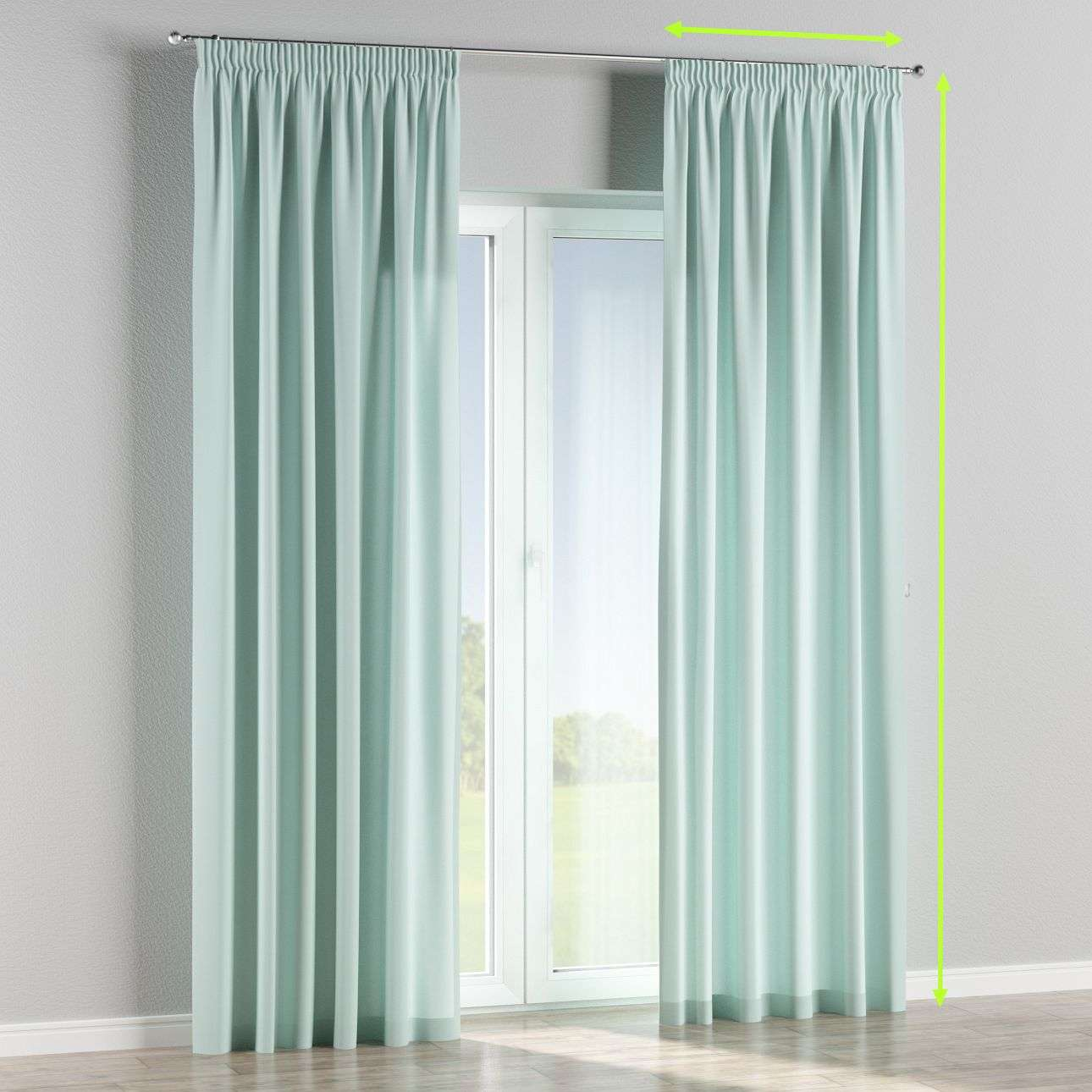 Pencil pleat curtains in collection Cotton Panama, fabric: 702-10