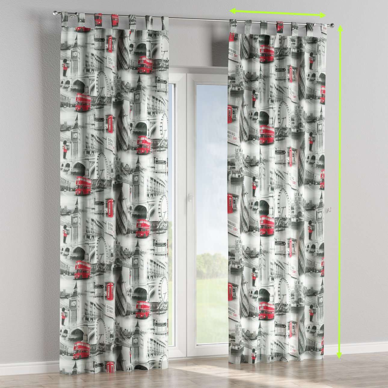 Tab top curtains in collection Comic Book & Geo Prints, fabric: 111-04