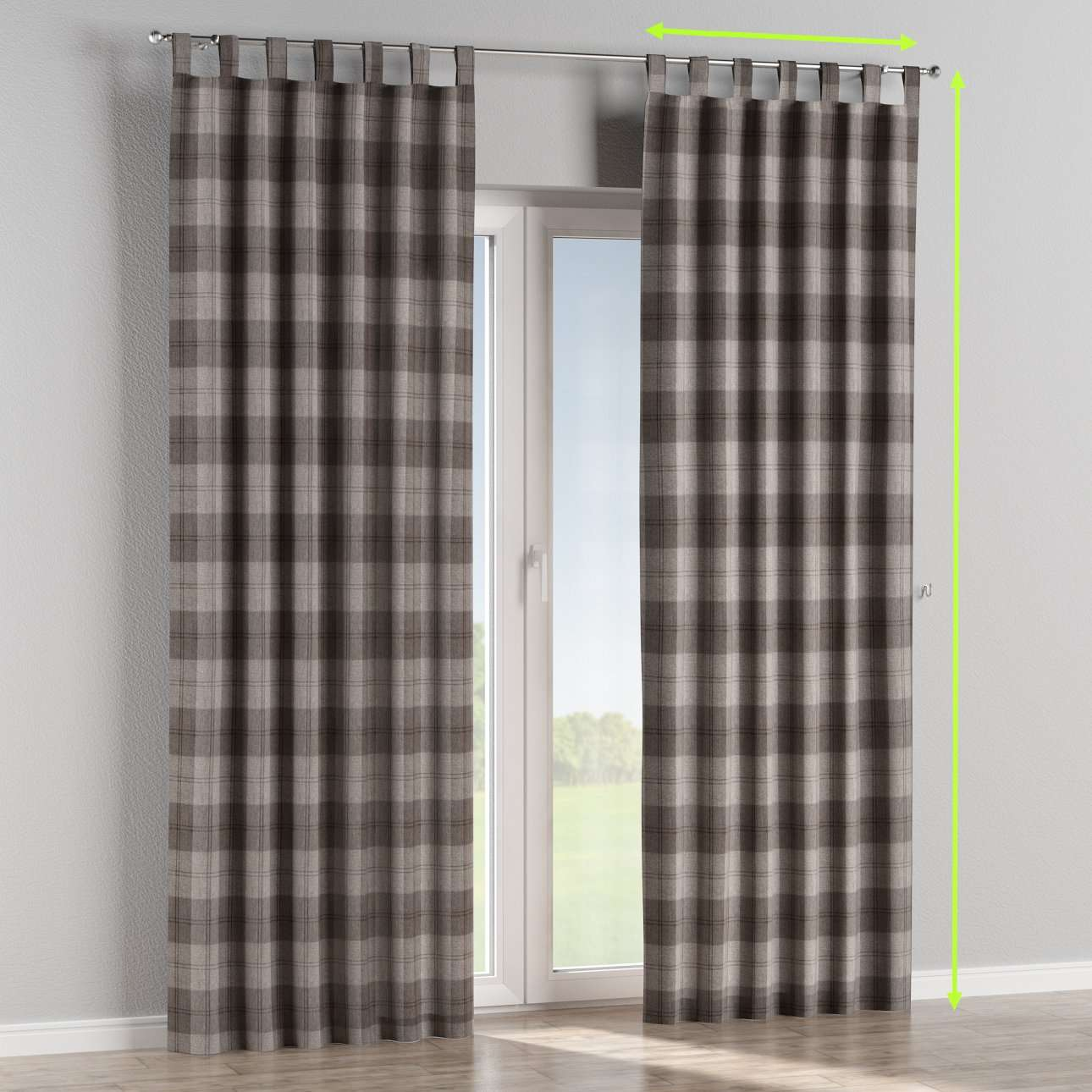 Tab top curtains in collection Edinburgh, fabric: 115-75