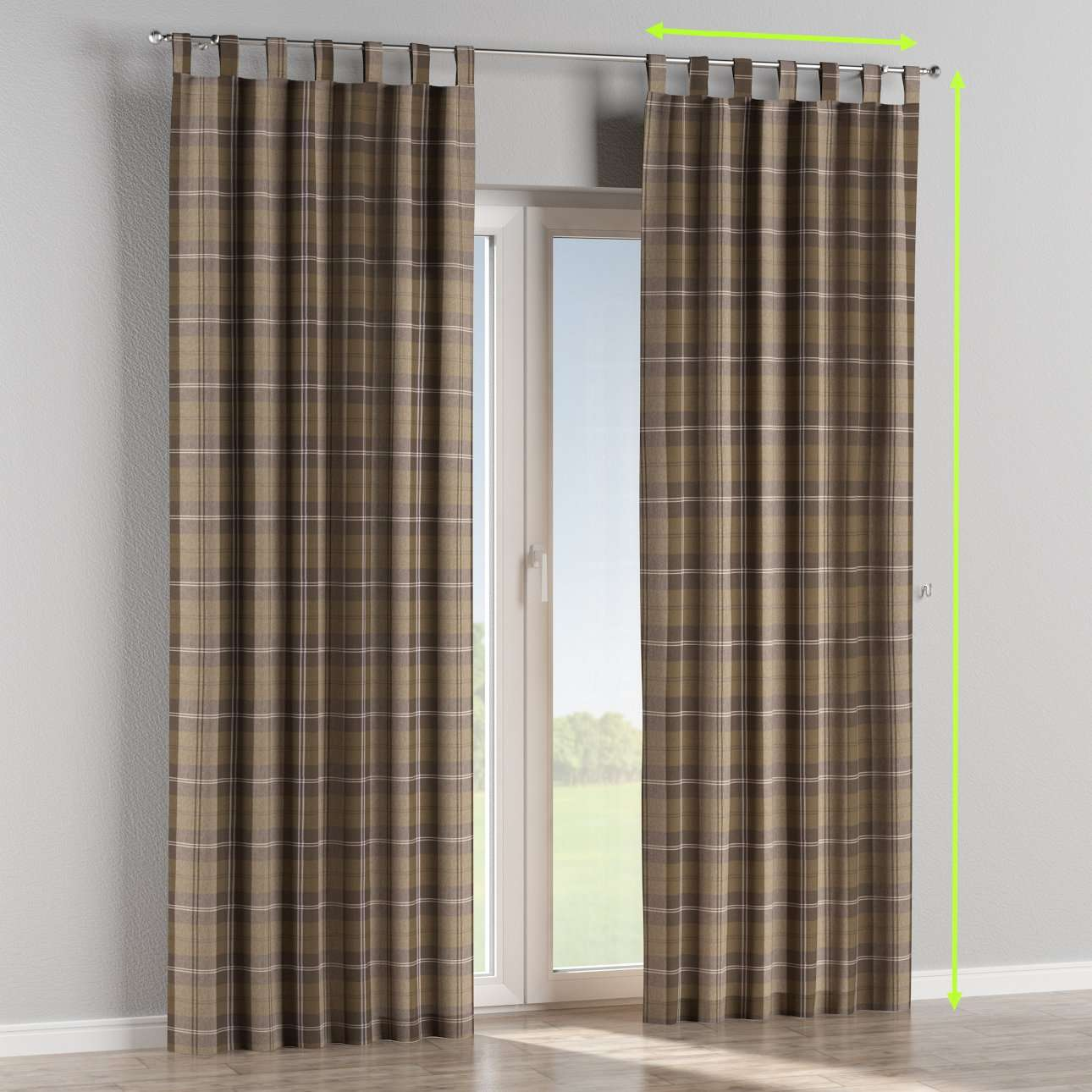 Tab top curtains in collection Edinburgh, fabric: 115-76