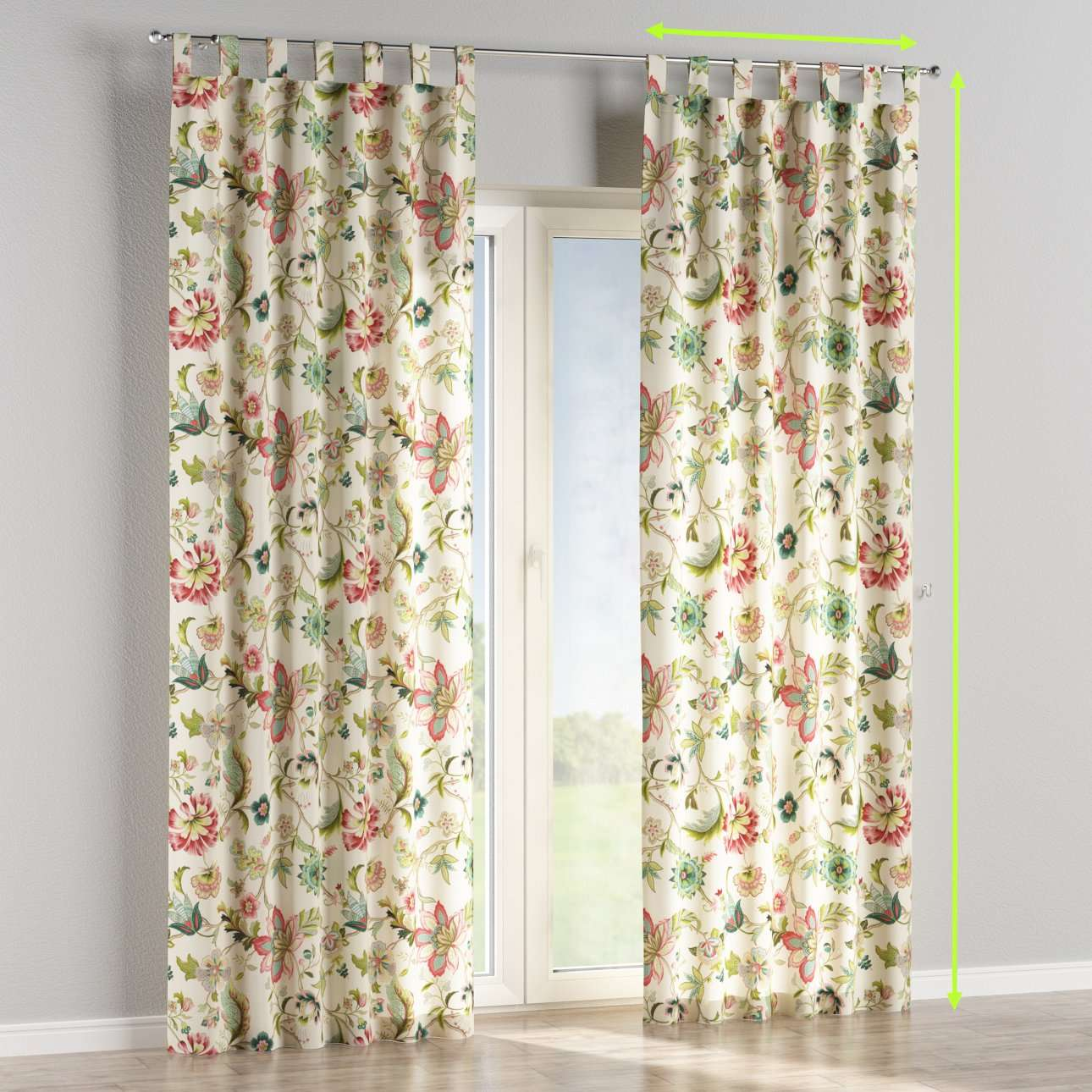 Tab top curtains in collection Londres, fabric: 122-00