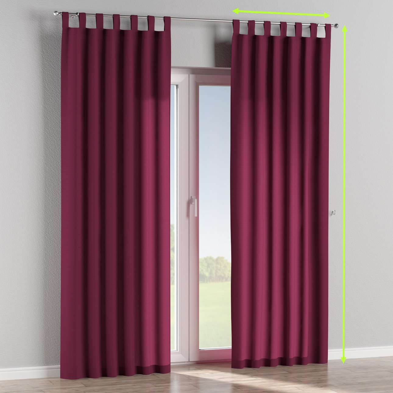 Tab top curtains in collection Jupiter, fabric: 127-20