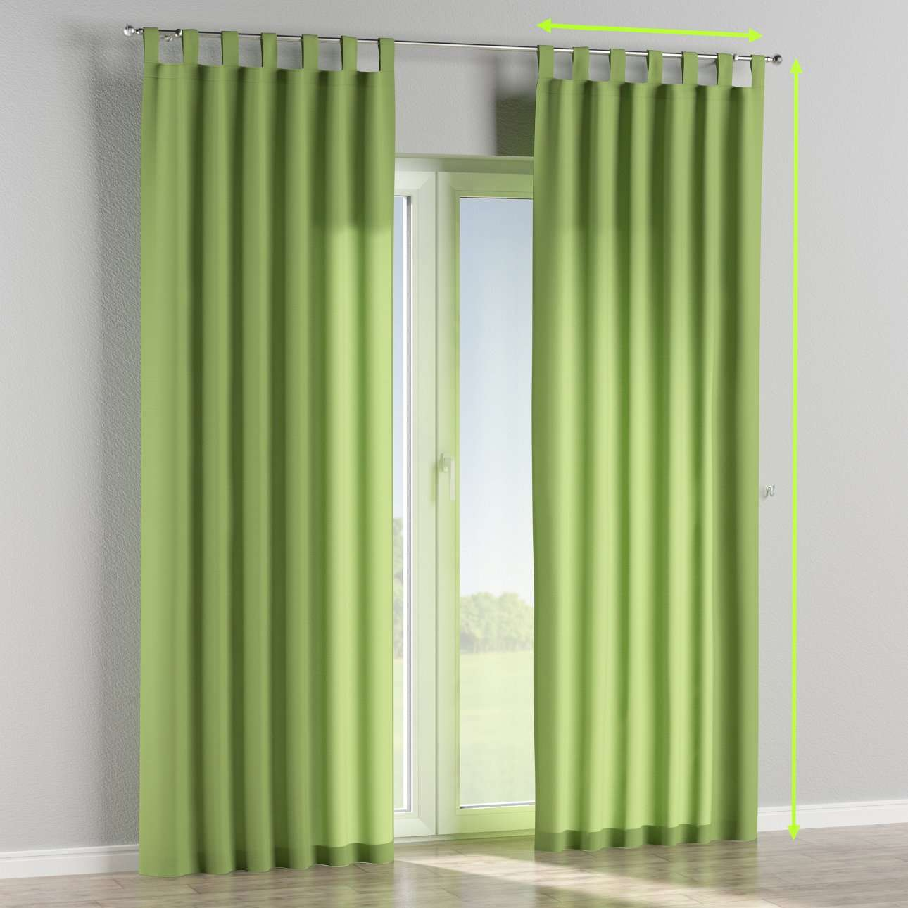 Tab top curtains in collection Jupiter, fabric: 127-57