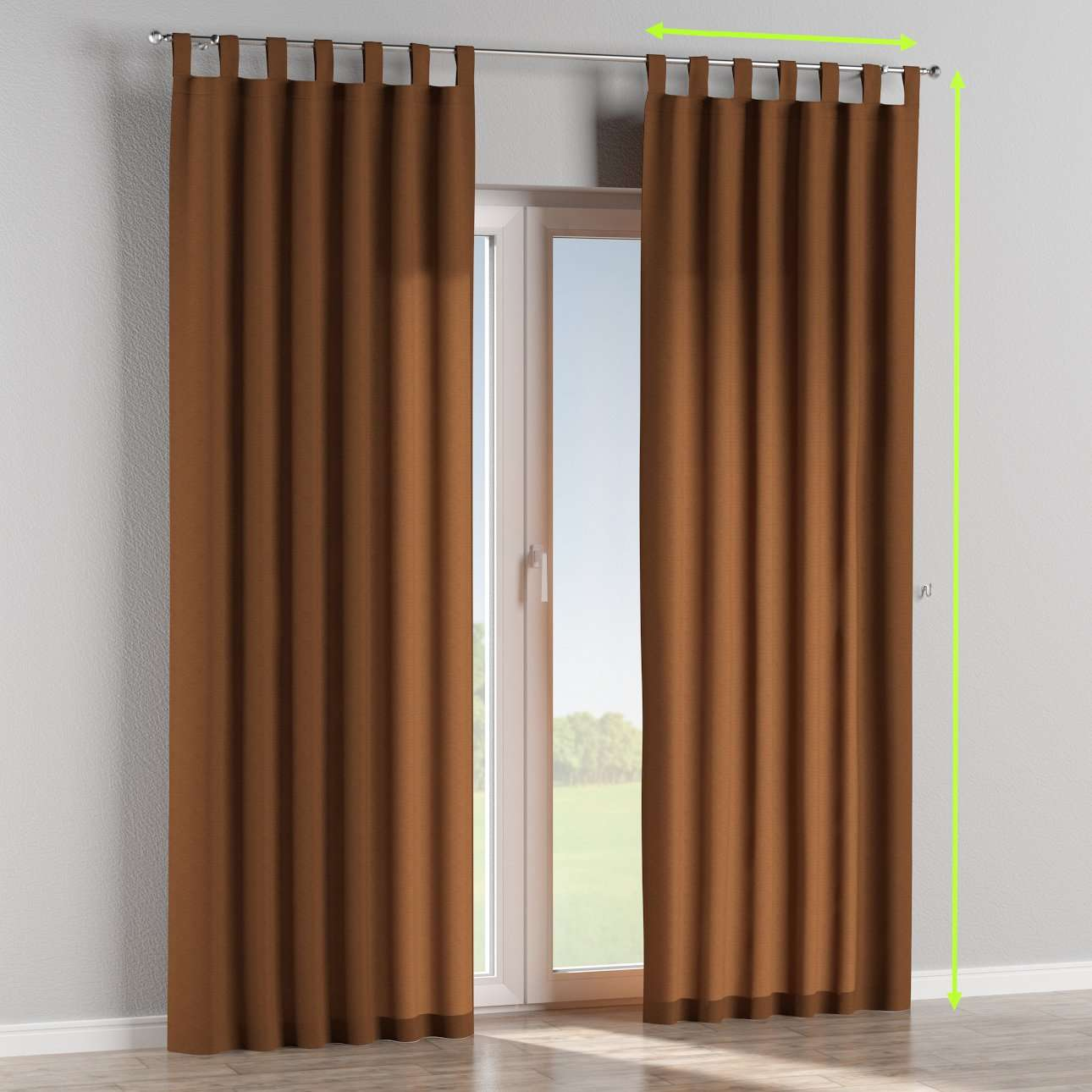 Tab top curtains in collection Jupiter, fabric: 127-88