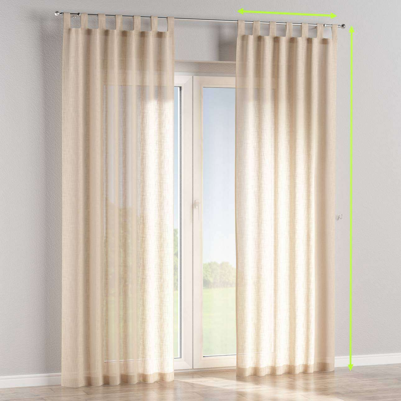 Tab top curtains in collection Romantica, fabric: 128-01