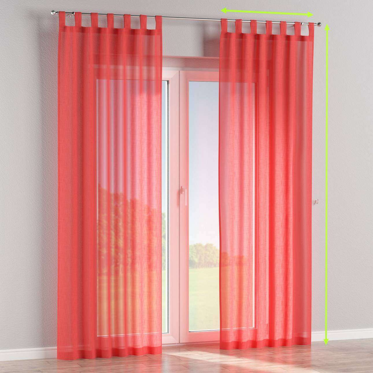 Tab top curtains in collection Romantica, fabric: 128-02