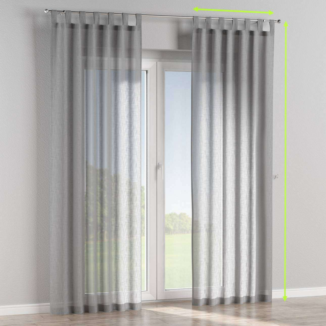 Tab top curtains in collection Romantica, fabric: 128-08