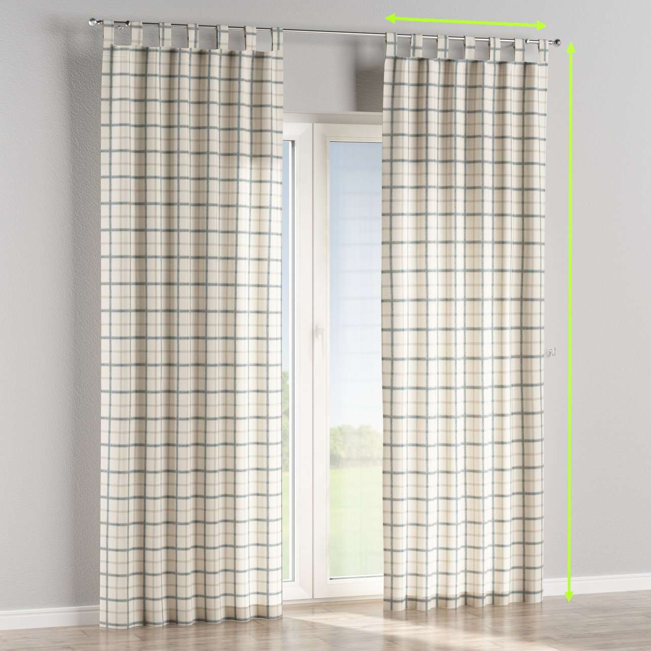 Tab top curtains in collection Avinon, fabric: 131-66