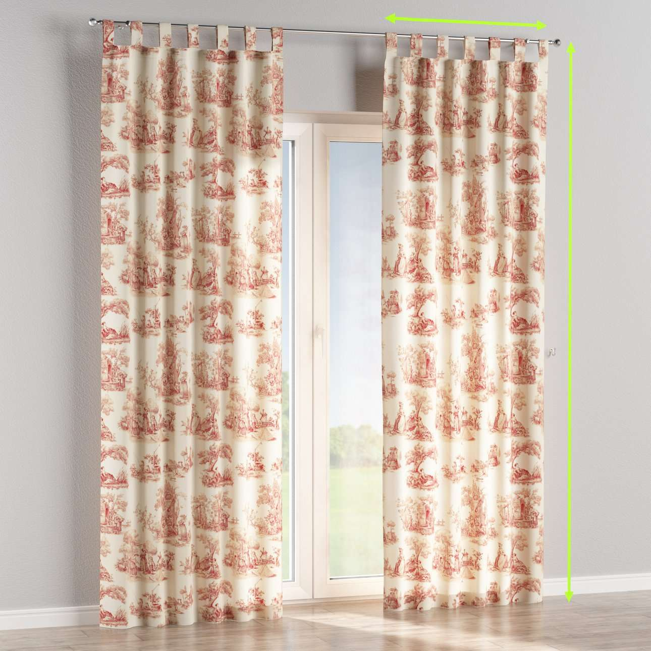 Tab top curtains in collection Avinon, fabric: 132-15