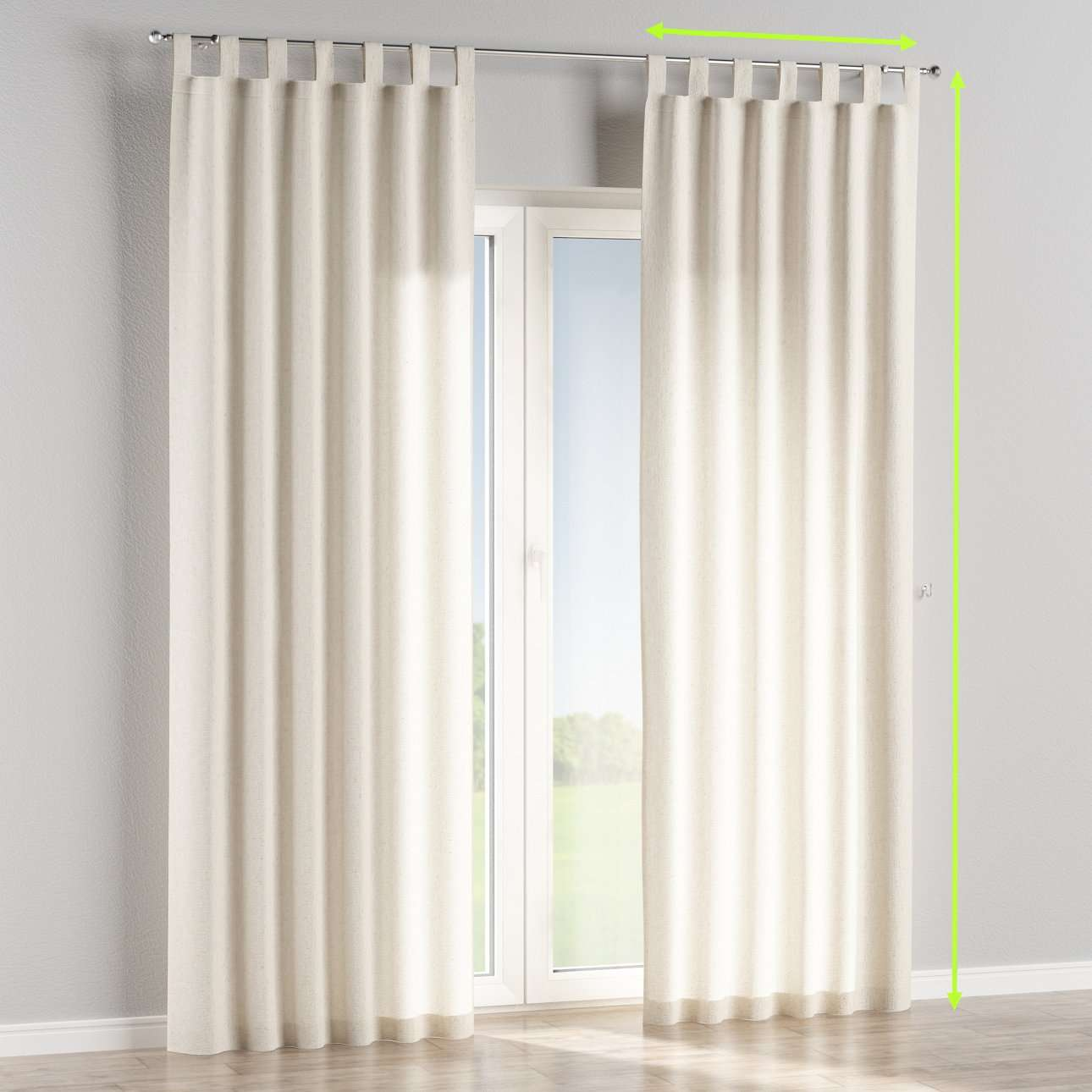 Tab top curtains in collection Loneta , fabric: 133-01