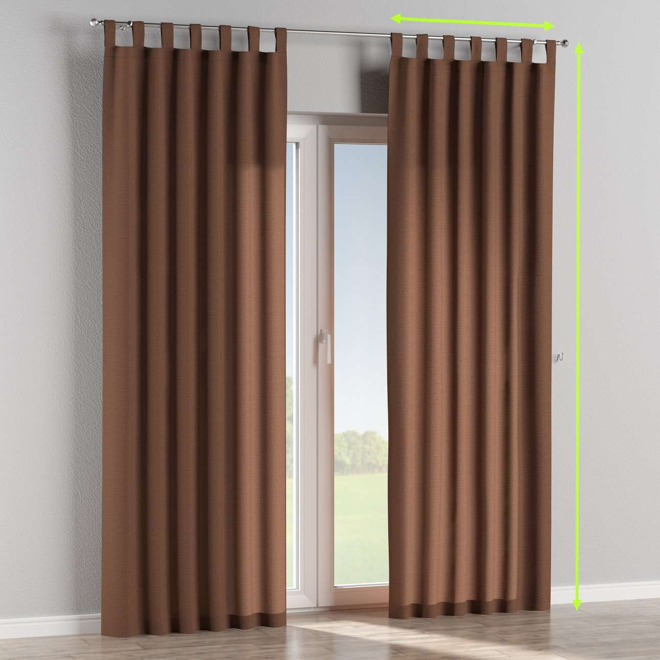 Tab top curtains in collection Loneta , fabric: 133-09