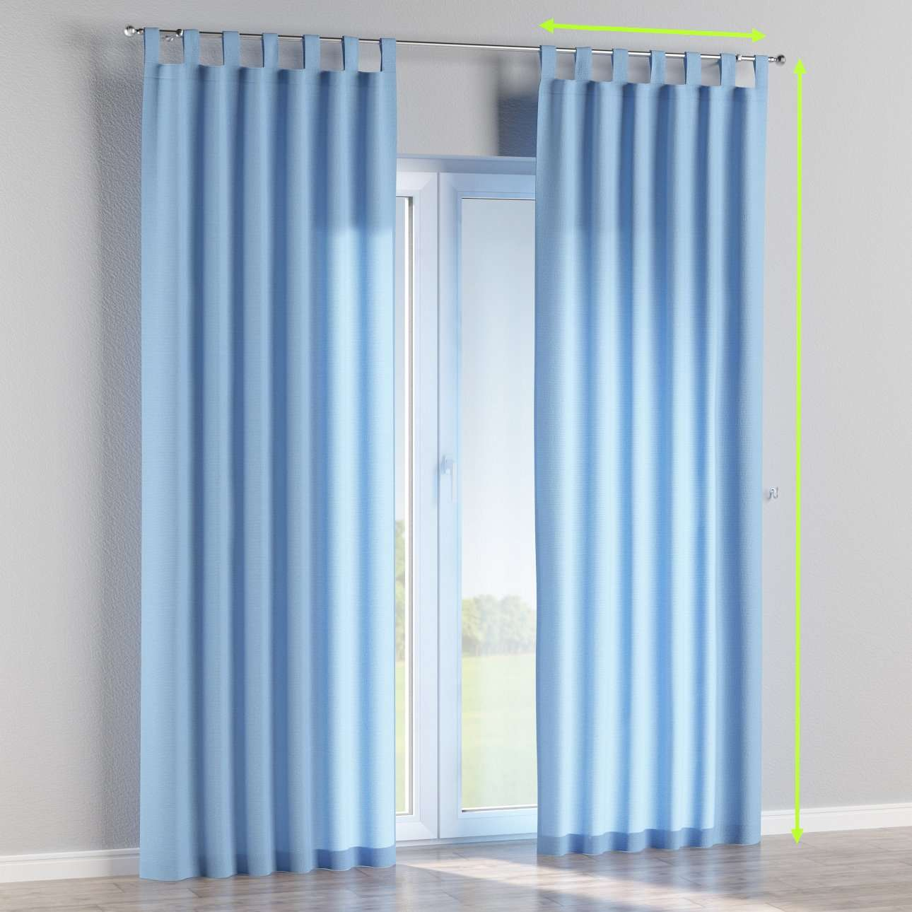 Tab top curtains in collection Loneta , fabric: 133-21