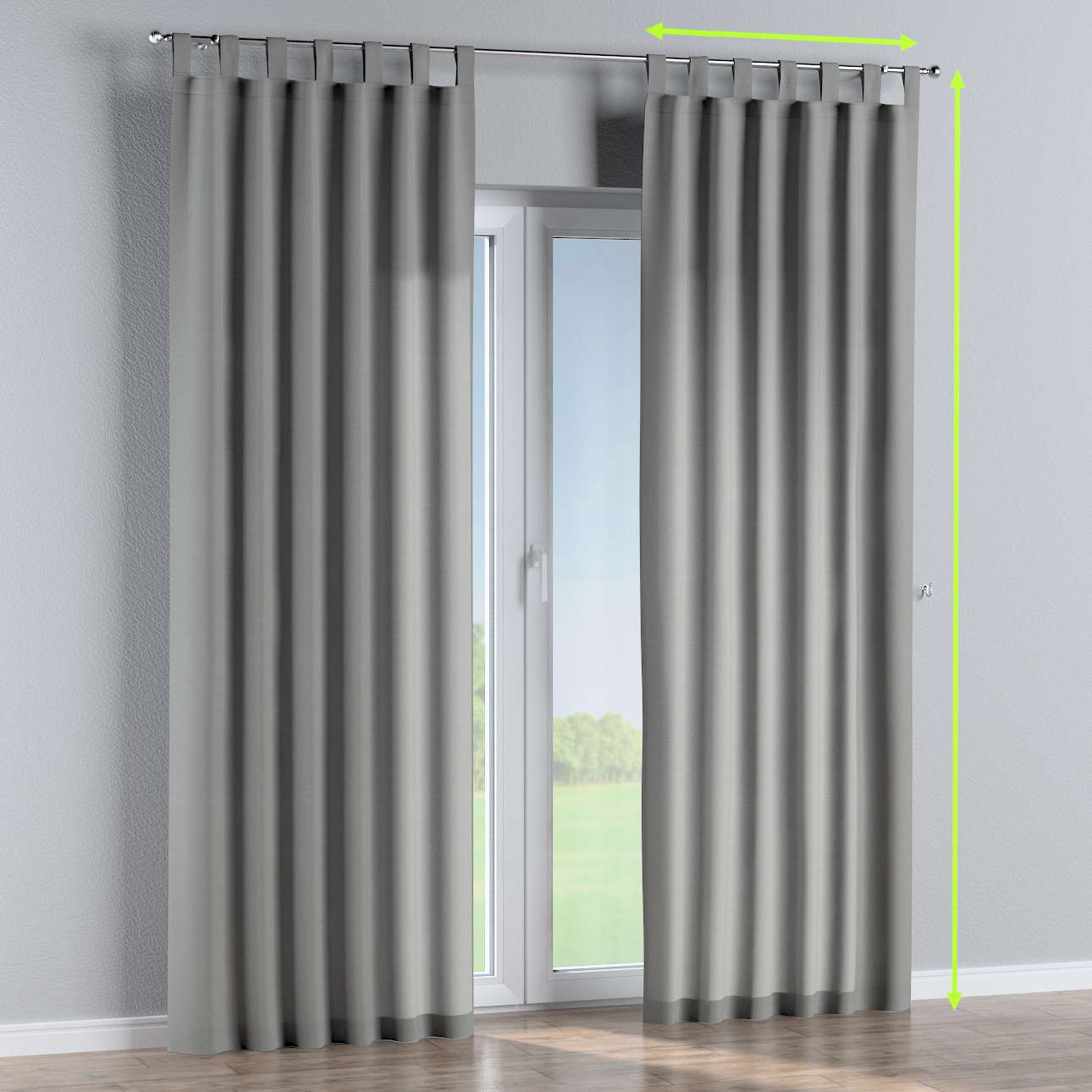 Tab top curtains in collection Loneta , fabric: 133-24