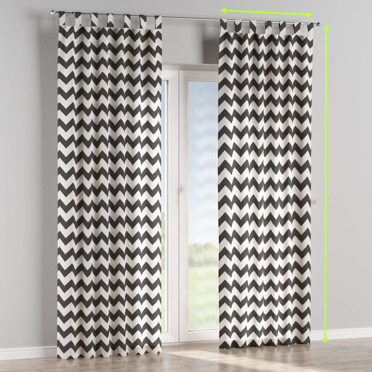 Tab top curtains in collection Comic Book & Geo Prints, fabric: 135-02