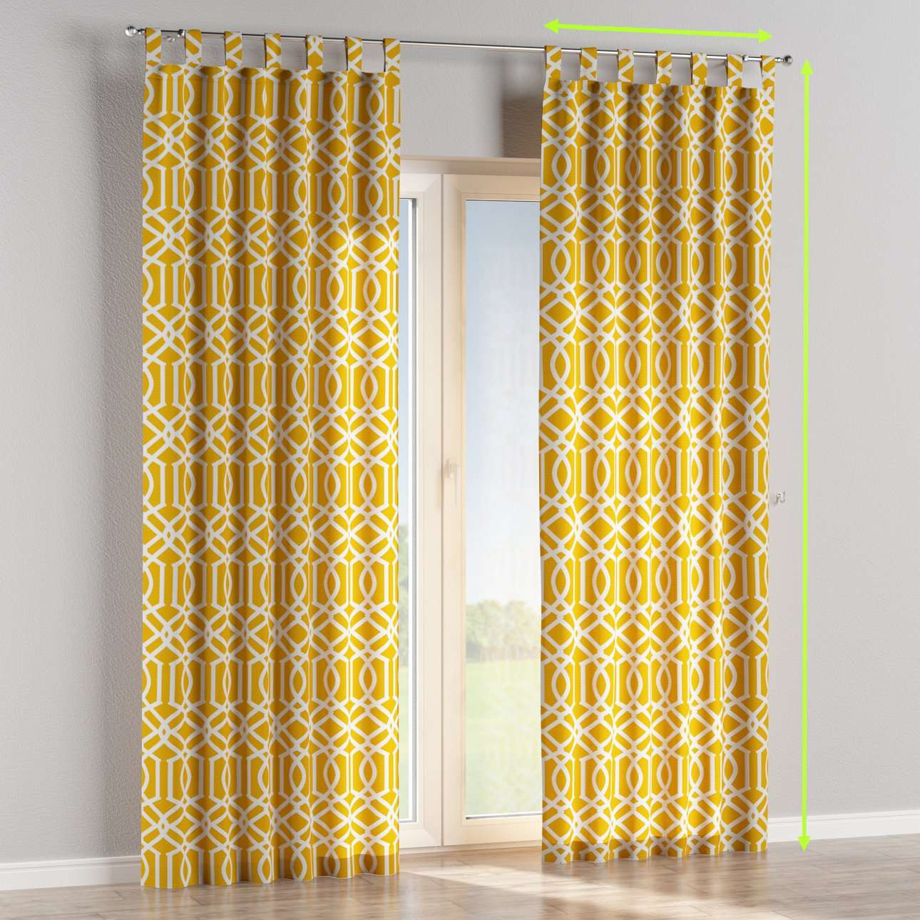 Tab top curtains in collection Comic Book & Geo Prints, fabric: 135-09