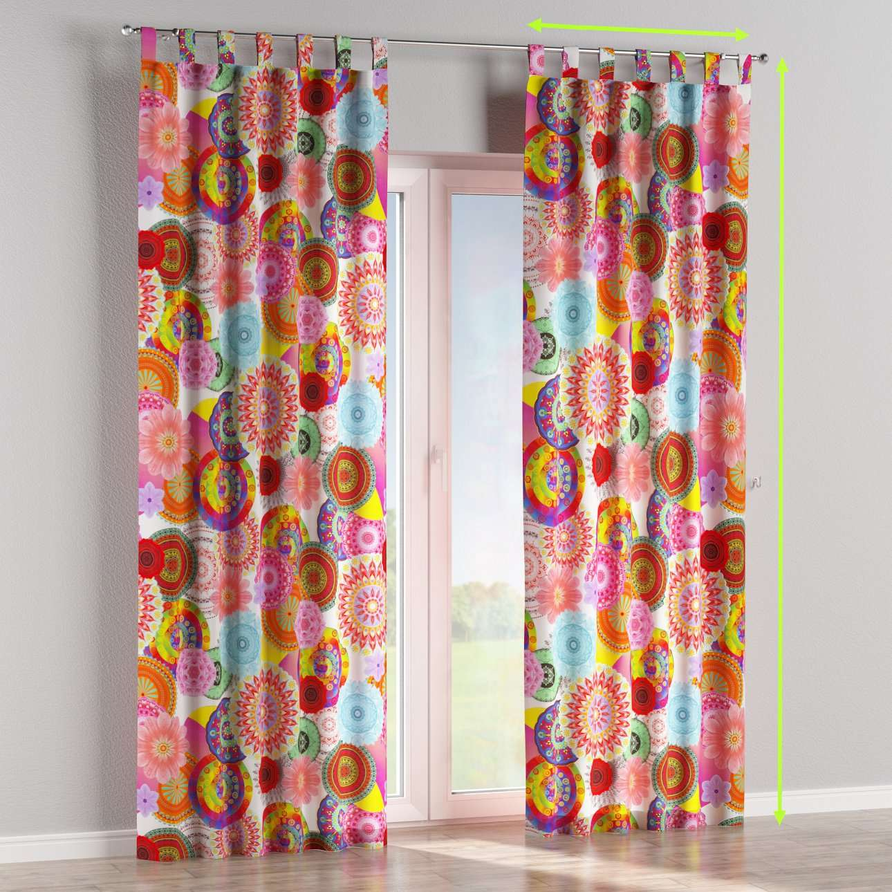 Tab top curtains in collection Comic Book & Geo Prints, fabric: 135-22