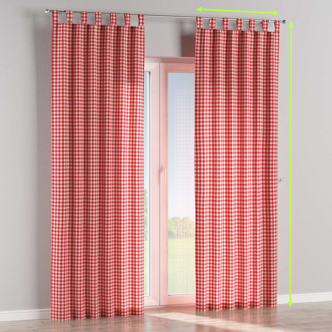 Tab top curtains in collection Quadro, fabric: 136-16