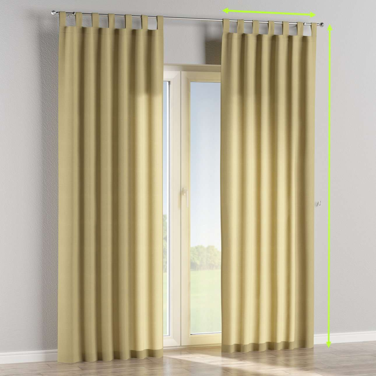 Tab top curtains in collection Cardiff, fabric: 136-22