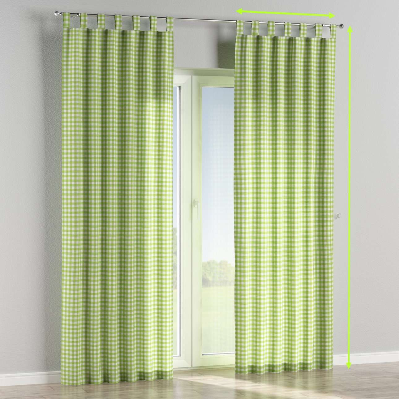 Tab top curtains in collection Quadro, fabric: 136-34