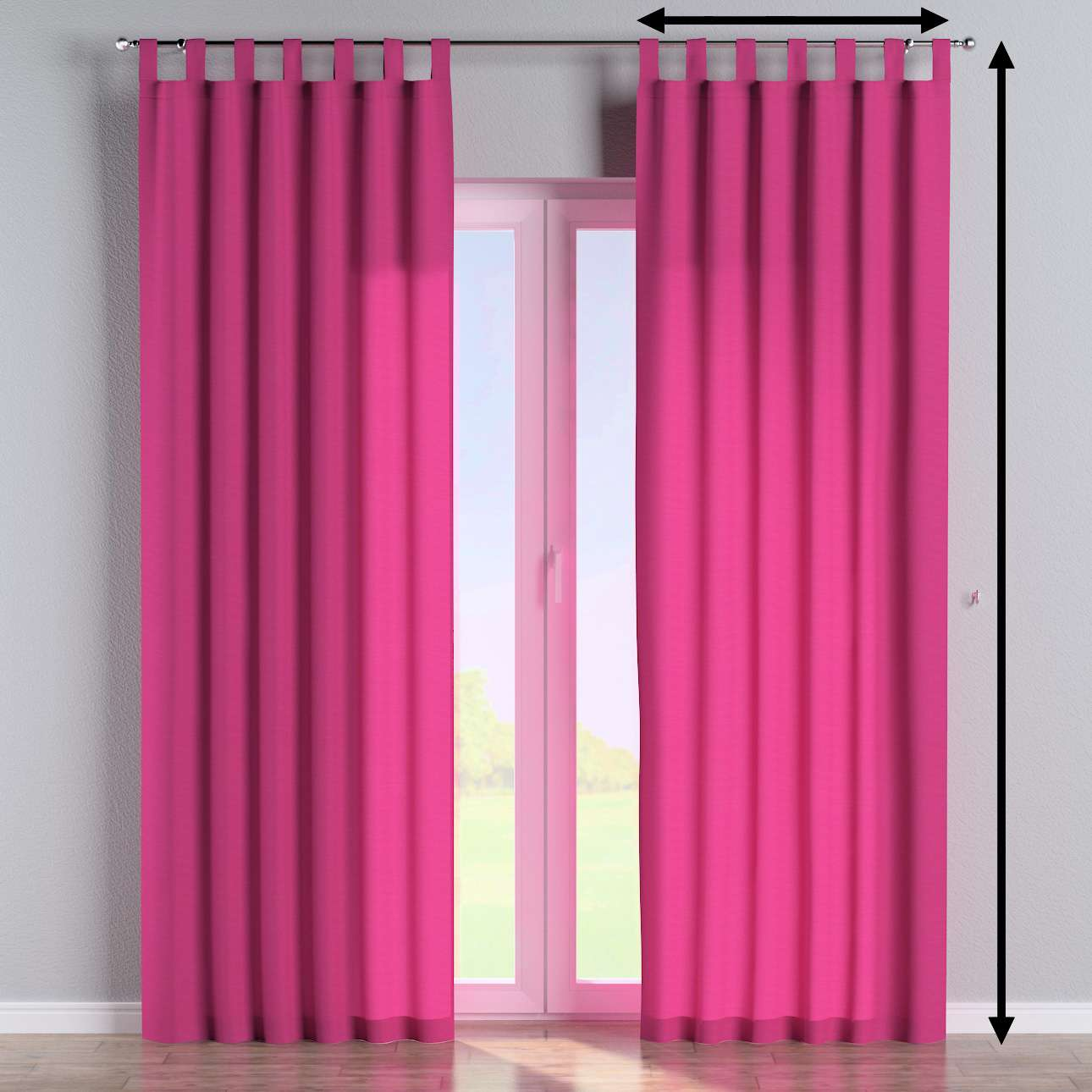 Tab top curtains in collection Loneta , fabric: 133-60