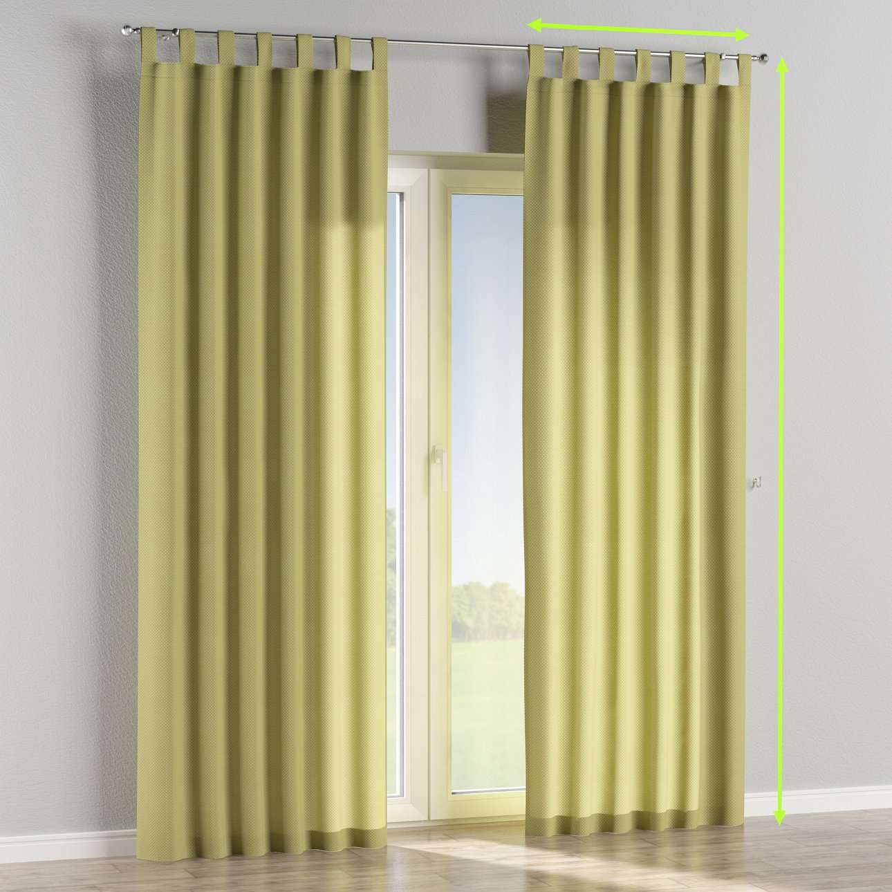 Tab top curtains in collection Ashley, fabric: 137-51