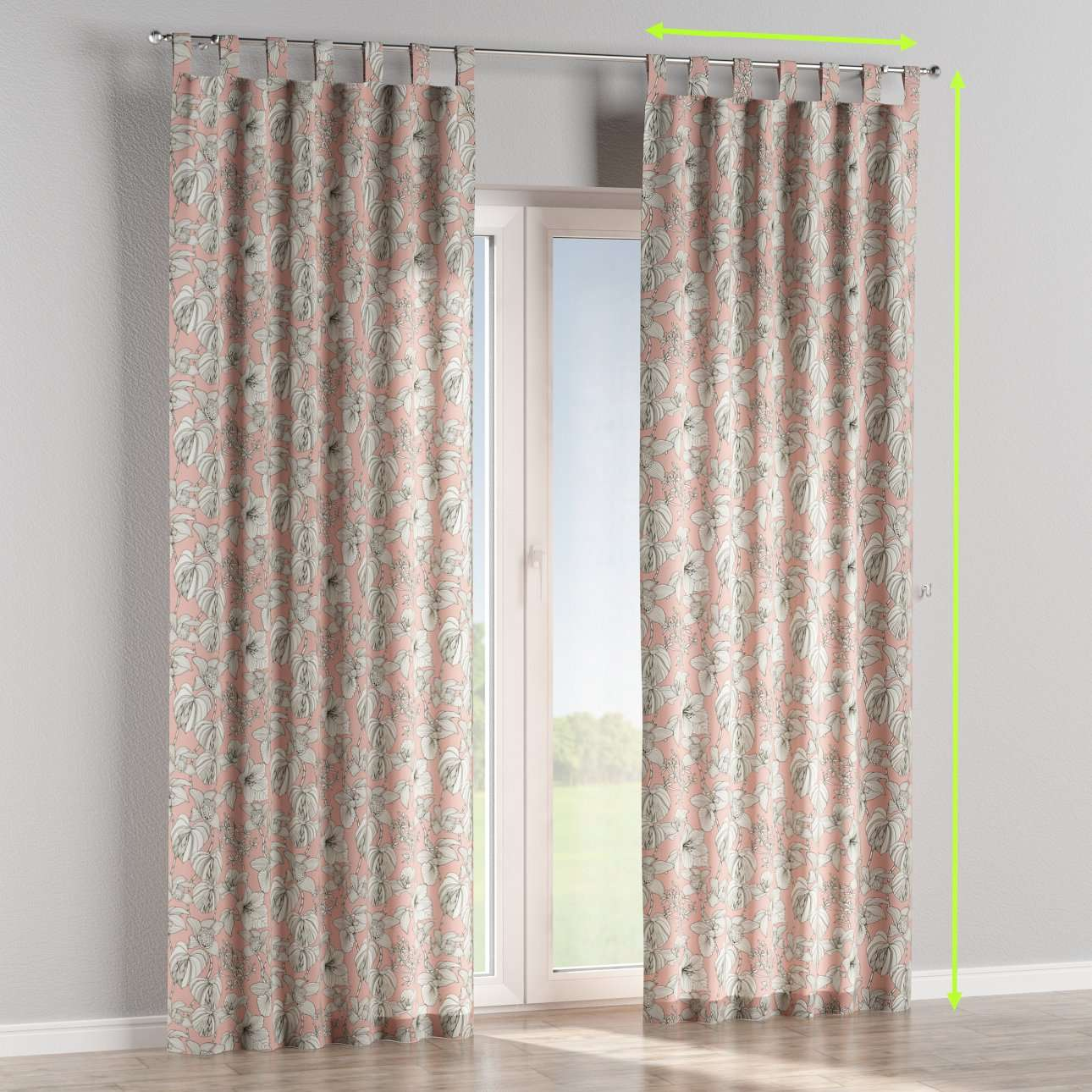 Tab top curtains in collection Brooklyn, fabric: 137-74