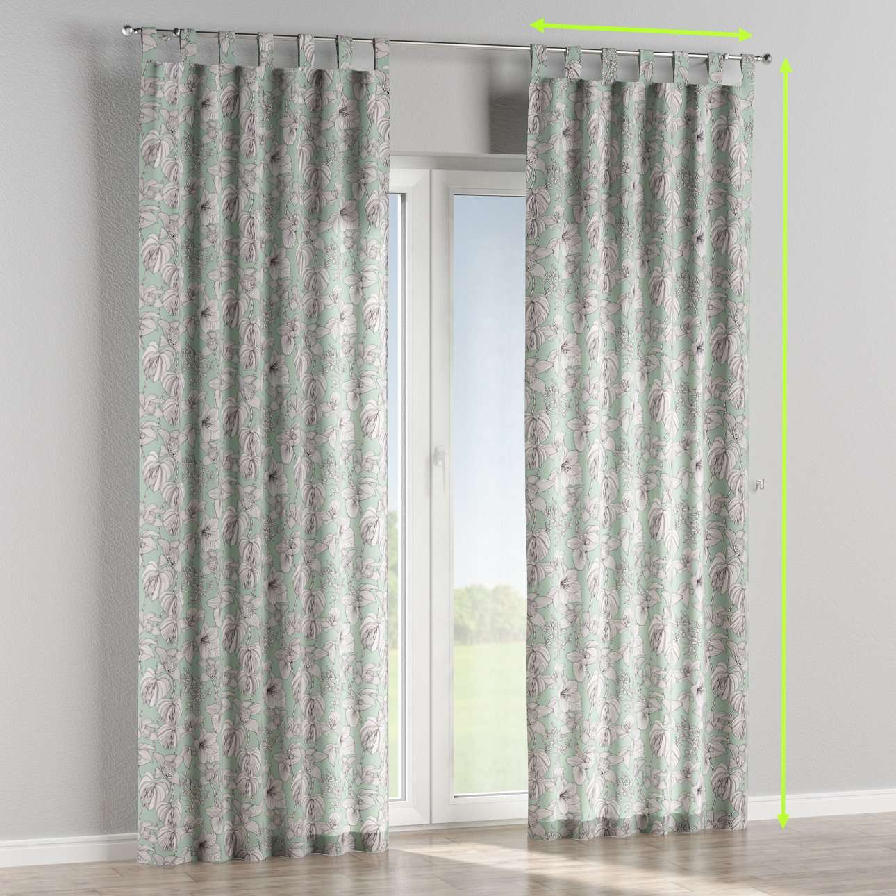 Tab top curtains in collection Brooklyn, fabric: 137-76