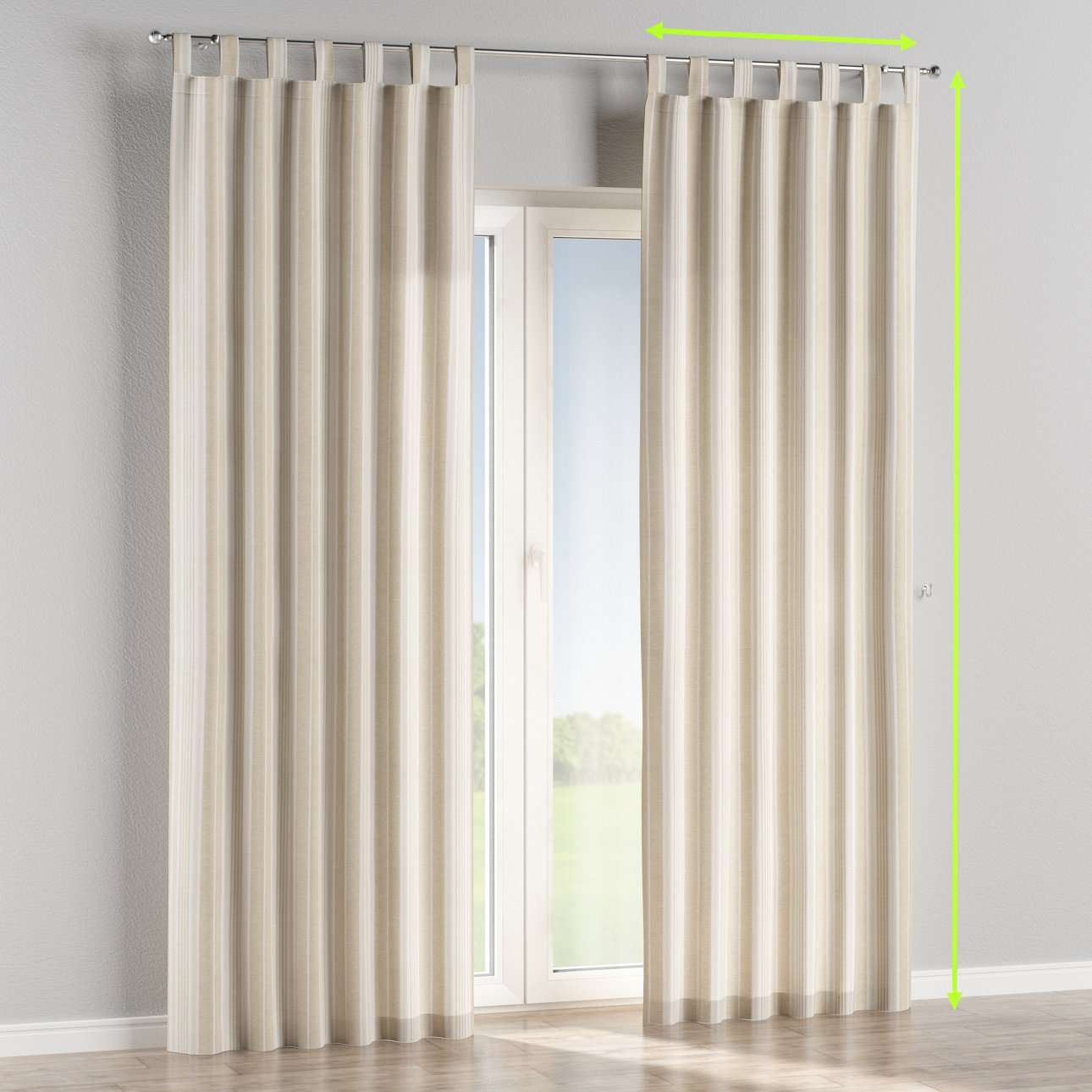 Tab top curtains in collection Rustica, fabric: 138-24