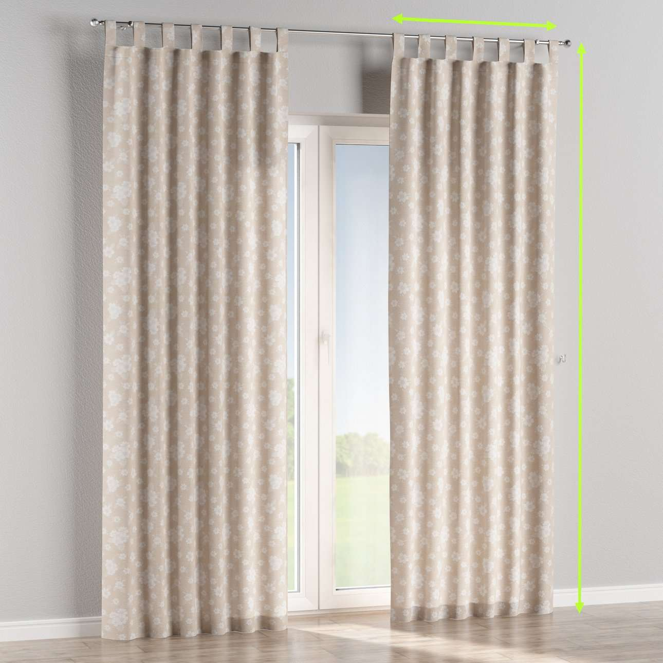 Tab top curtains in collection Rustica, fabric: 138-26