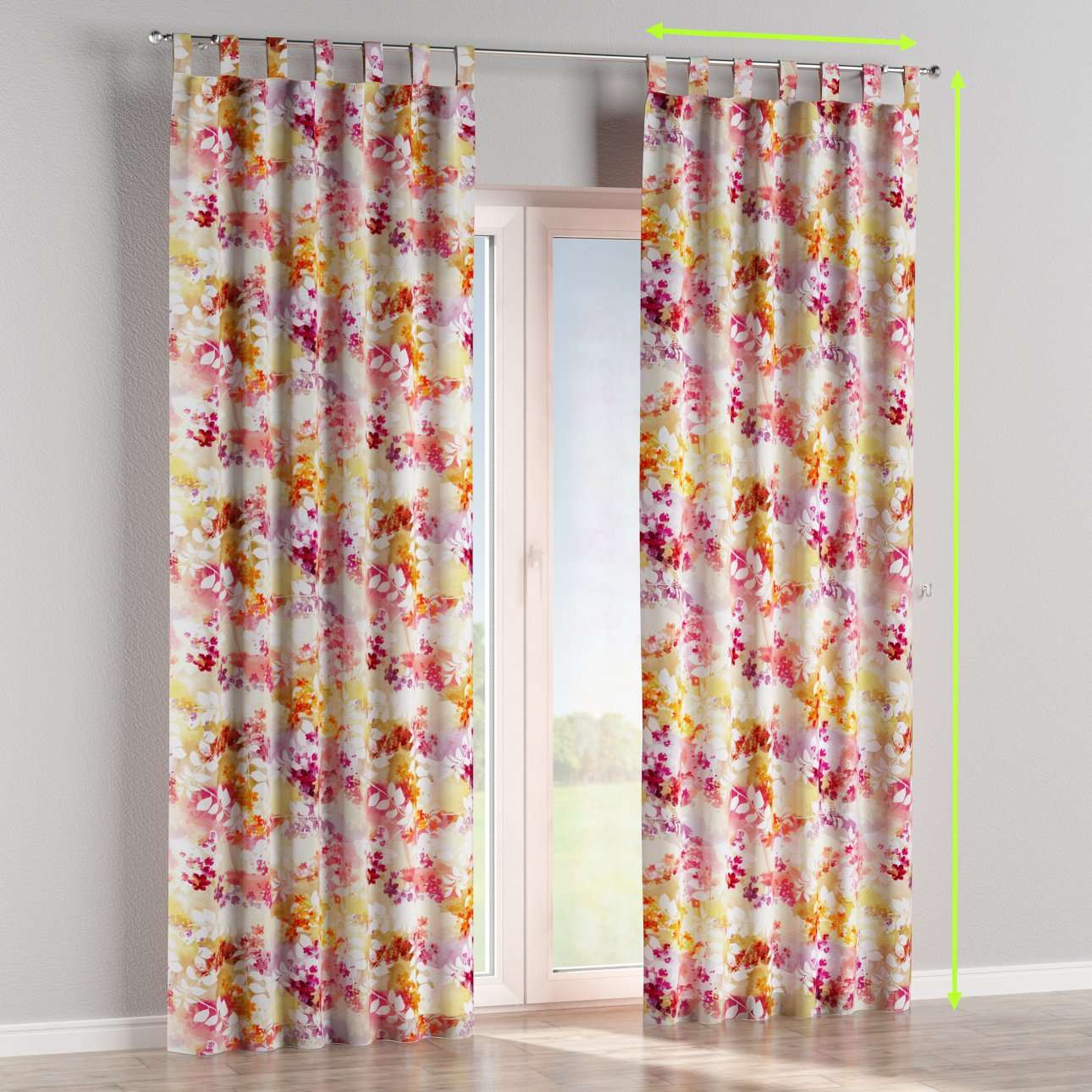 Tab top curtains in collection Monet, fabric: 140-05