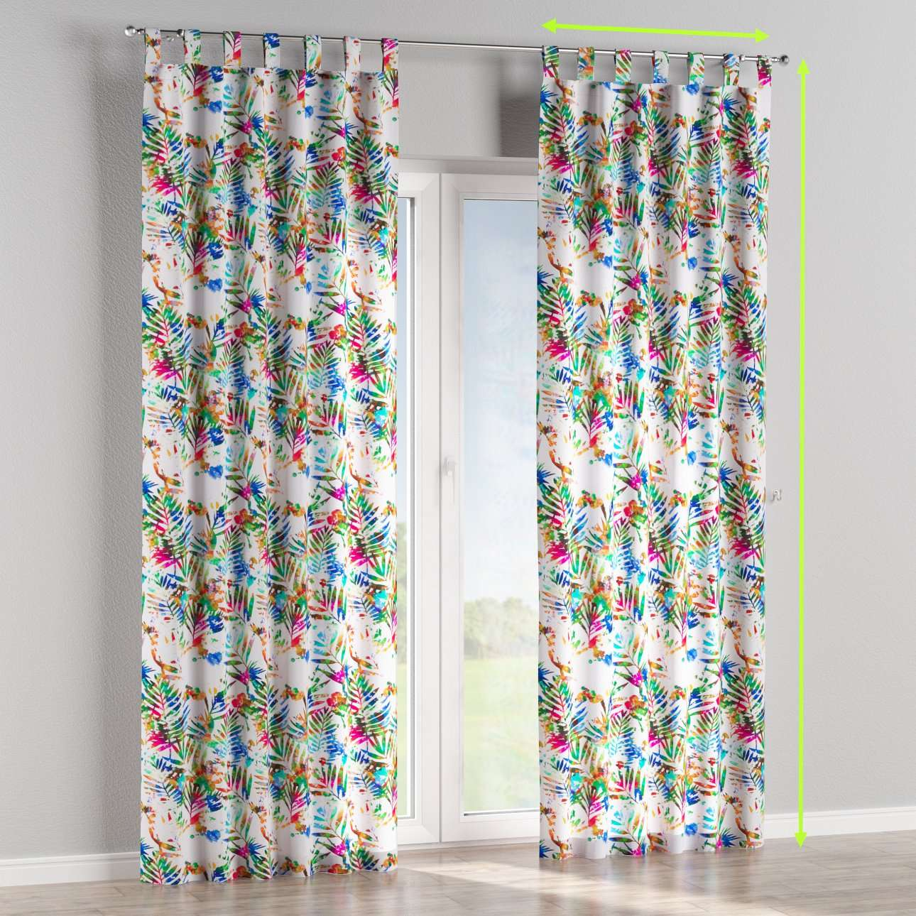 Tab top curtains in collection New Art, fabric: 140-22