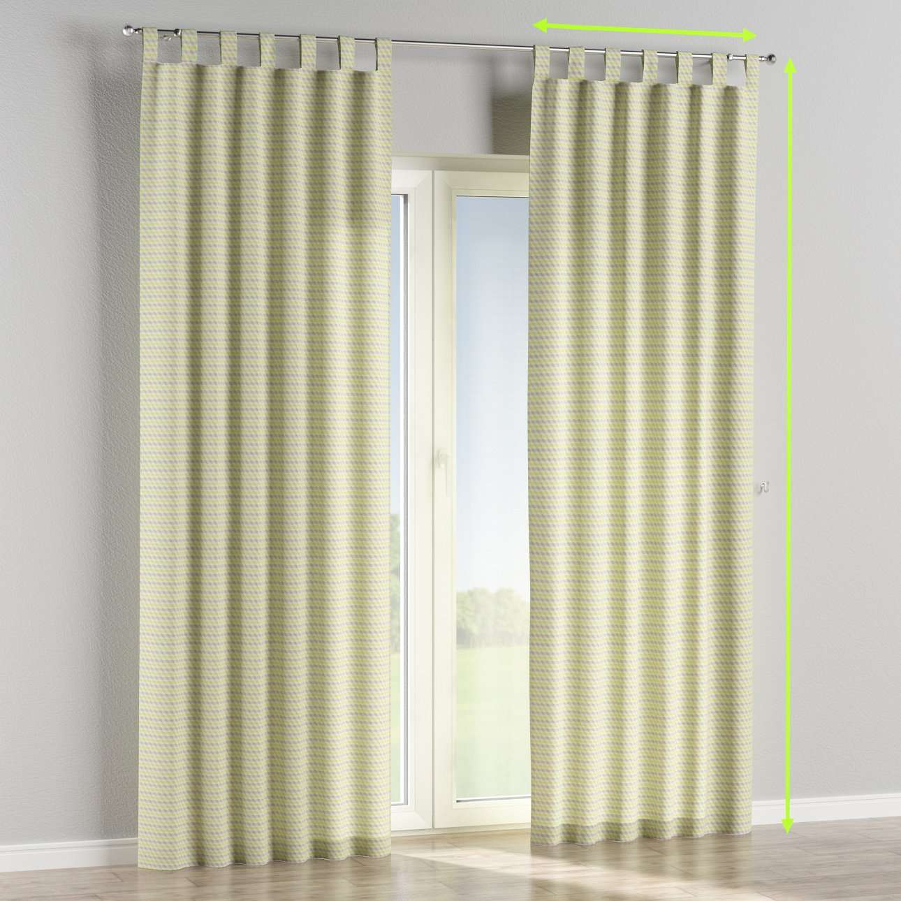 Tab top curtains in collection Rustica, fabric: 140-36