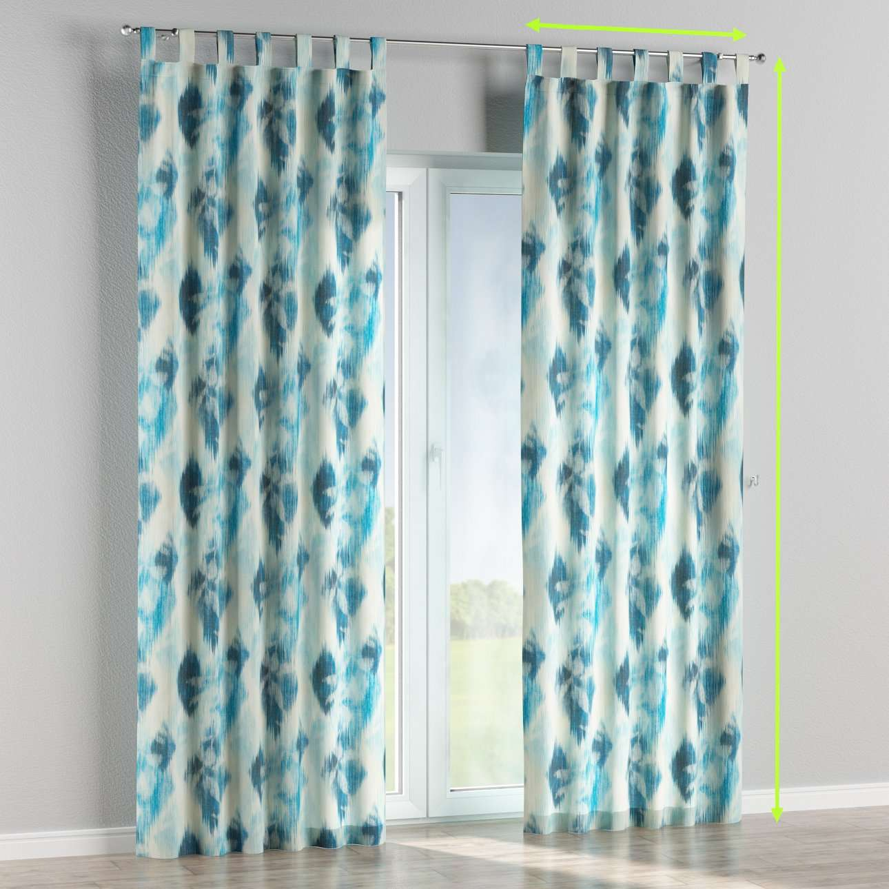 Tab top curtains in collection Aquarelle, fabric: 140-71