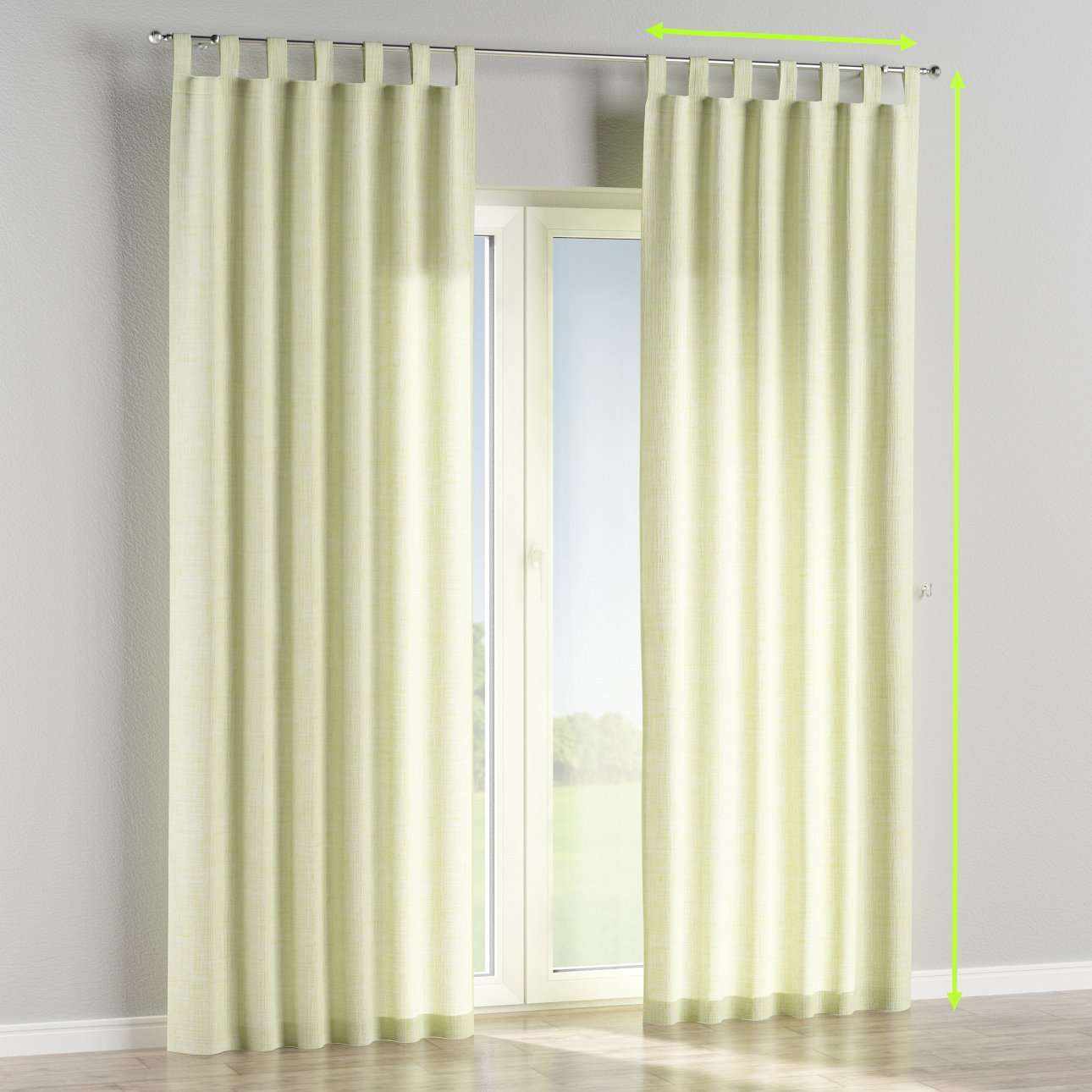 Tab top curtains in collection Aquarelle, fabric: 140-73