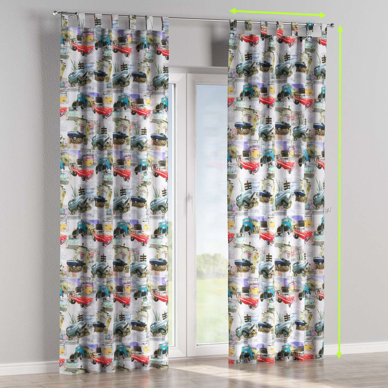 Tab top curtains in collection Freestyle, fabric: 140-91