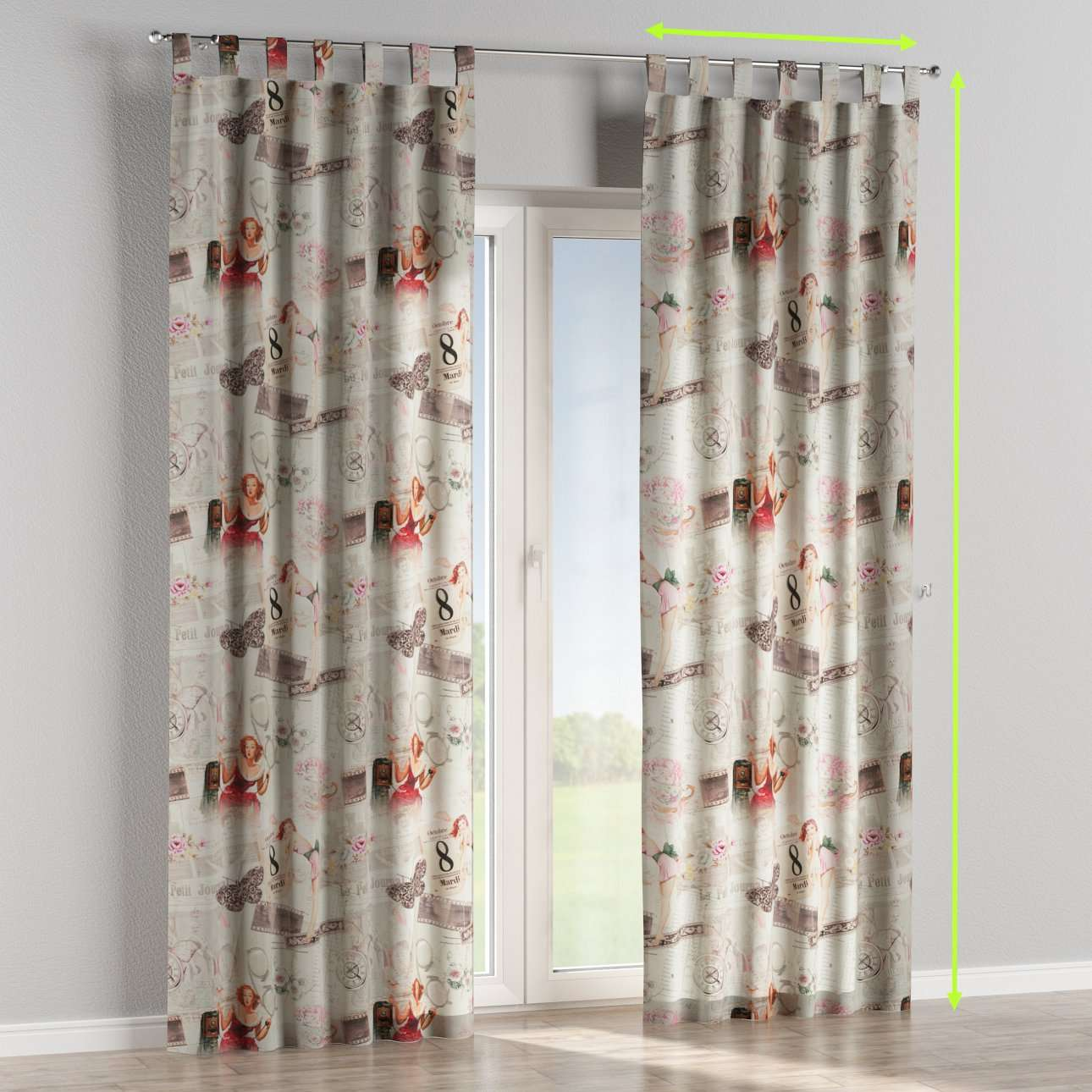 Tab top curtains in collection Freestyle, fabric: 140-99