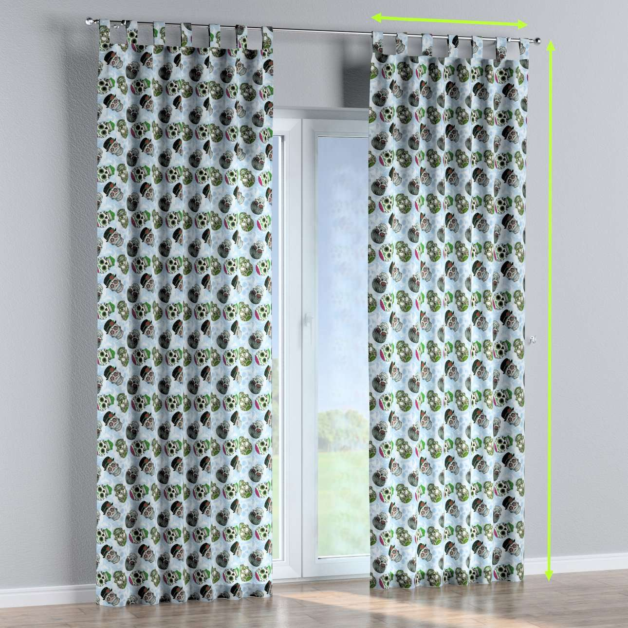 Tab top curtains in collection Freestyle, fabric: 141-01