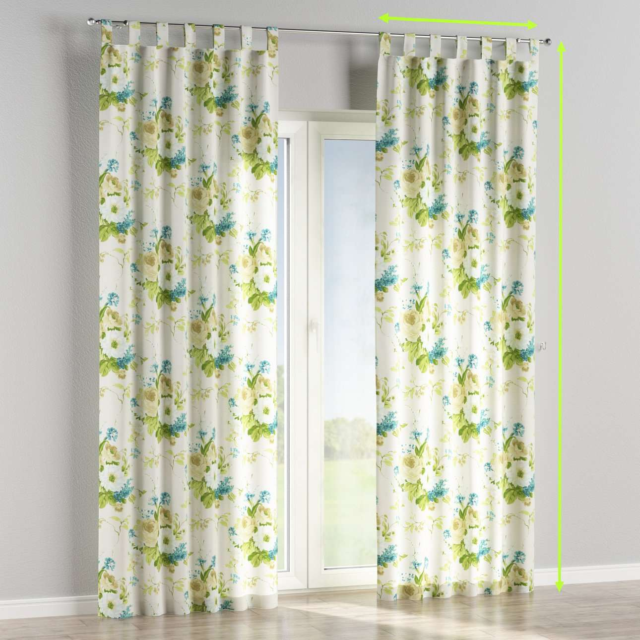 Tab top curtains in collection Mirella, fabric: 141-15