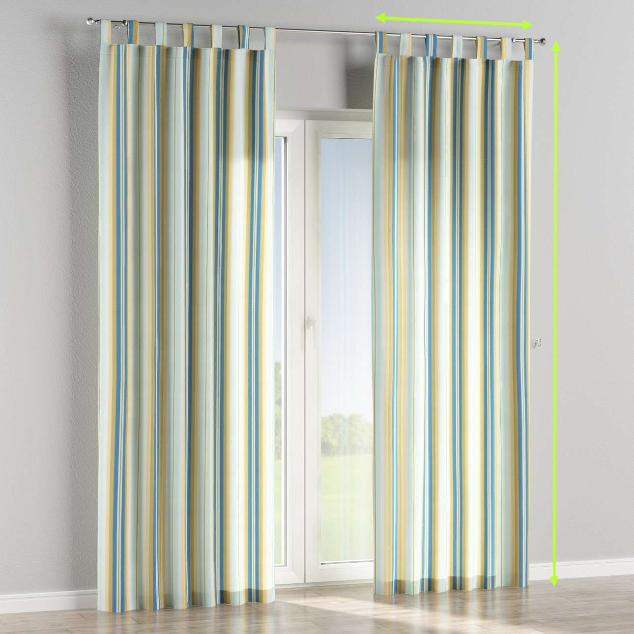Tab top curtains in collection Mirella, fabric: 141-17