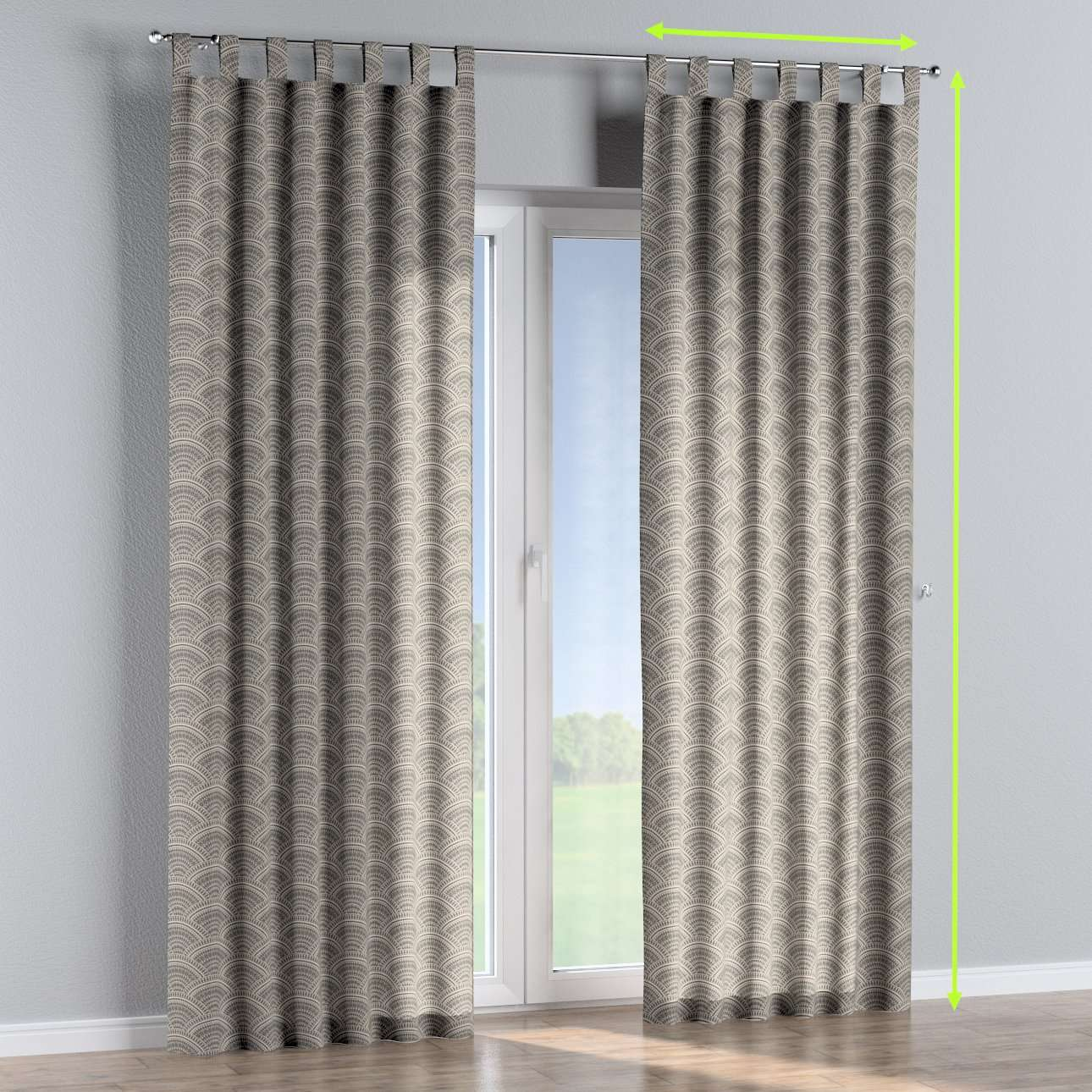 Tab top curtains in collection Comics/Geometrical, fabric: 141-19