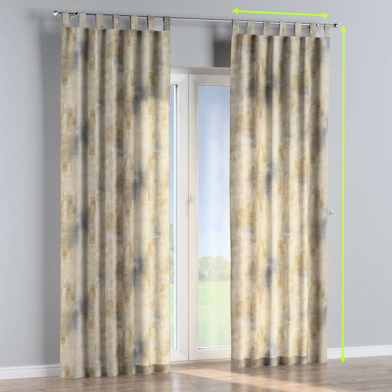 Tab top curtains in collection Urban Jungle, fabric: 141-23
