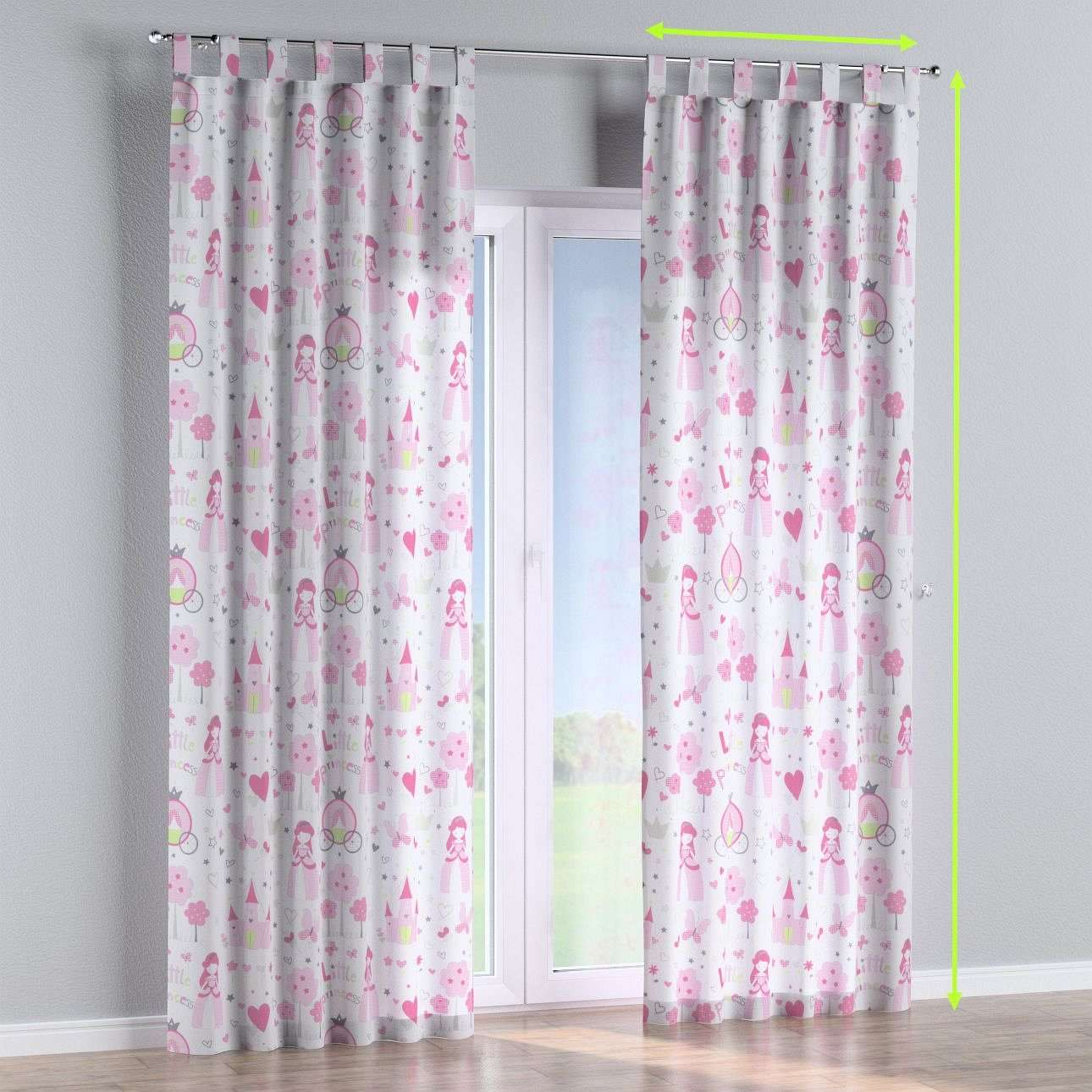 Tab top curtains in collection Little World, fabric: 141-28
